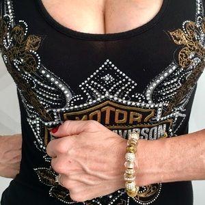 EXCLUSIVE WOMEN'S GOLD & GLASS BEADS BRACELET
